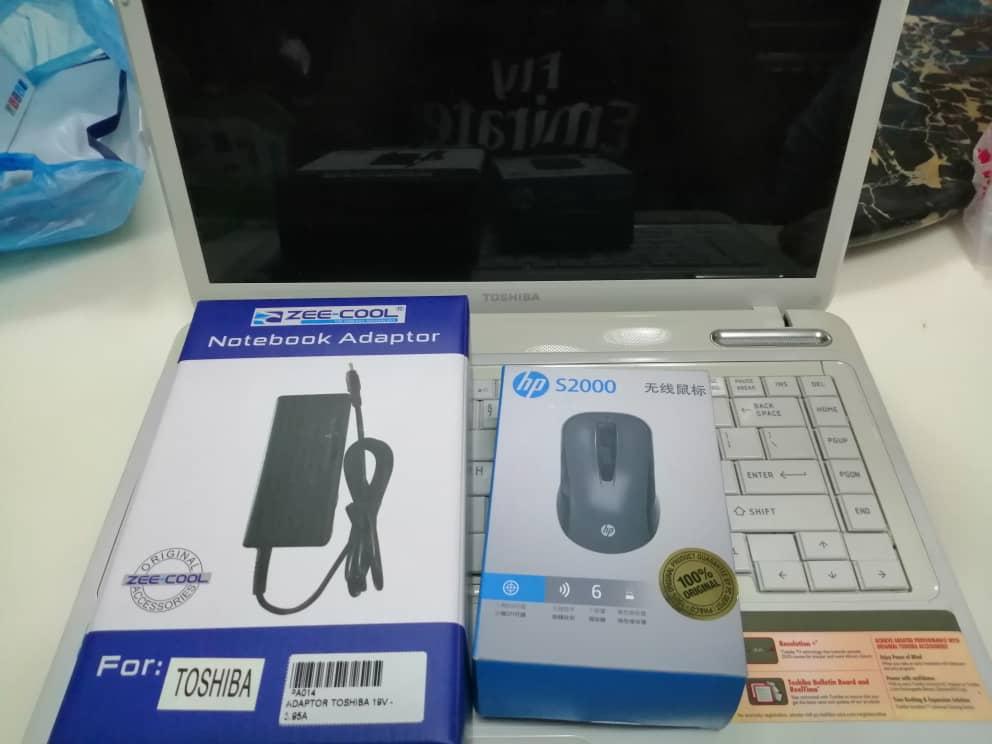 Mouse dan adaptor yang dibeli dikedai berasingan