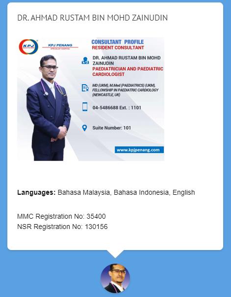 Dr Ahmad Rustam KPJ Penang