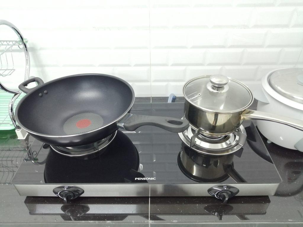 Tempat memasak disediakan